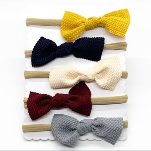 Other - HP🎉 Handmade Fall Colors Infant Headbands w/ Bow